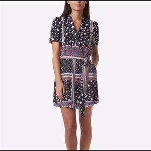 Avec les Filles Stars & Stripes Belted Wrap Dress